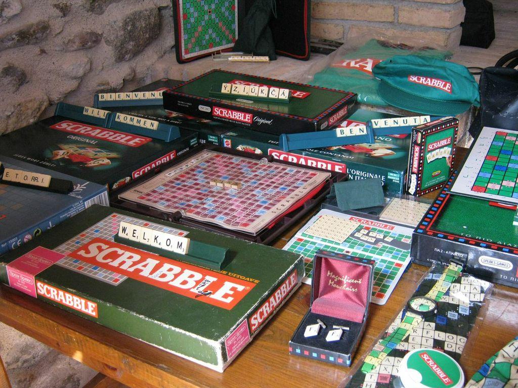 Racó expositor de curiositats de l'Scrabble