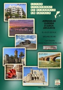 Cartell de la cloenda de la 2a LLISCA a Molins de Rei