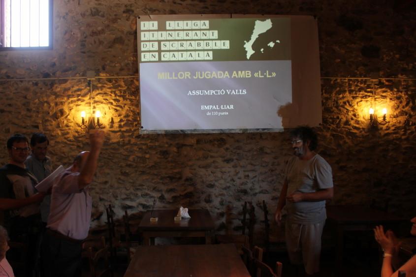 Millor jugada amb L·L: Assumpció Valls amb EMPAL·LIAR de 110 punts