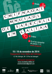 cartell 6è Mundial de Scrabble en català